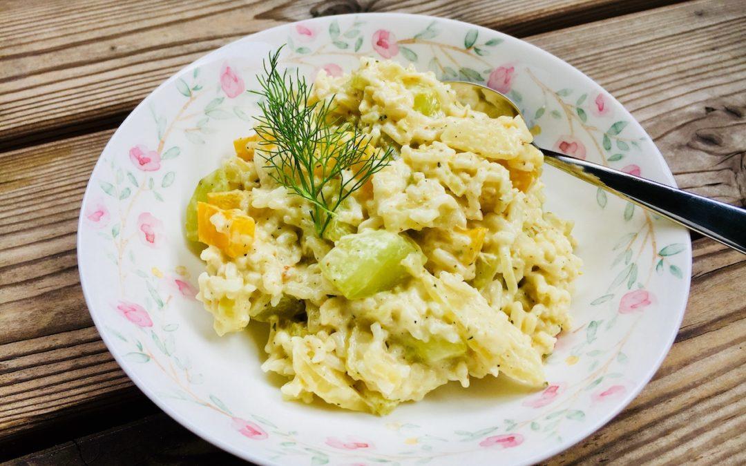 Zitronen-Reis mit verstecktem Gemüse